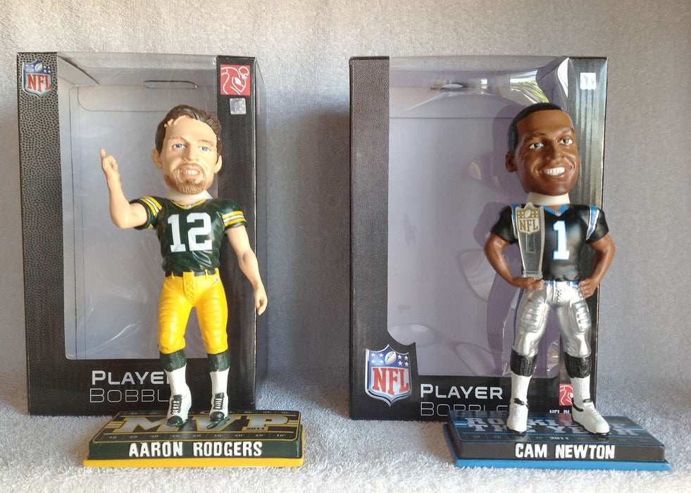 Aaron Rodgers and Cam Newton Bobblehead Set - BobblesGalore