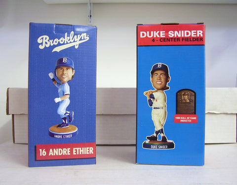 Andre Ethier and Duke Snider Bobblehead Set