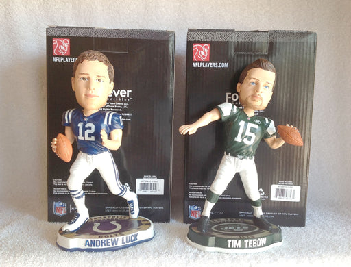 Andrew Luck and Tim Tebow Bobblehead Set - BobblesGalore