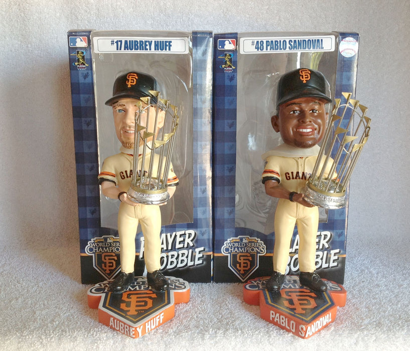 Aubrey Huff and Pablo Sandoval Bobblehead Set - BobblesGalore