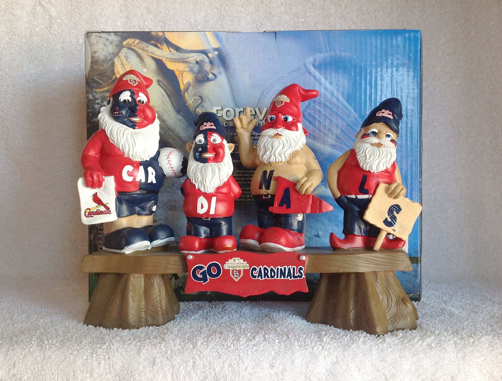 Cardinals World Series Gnome Team Bench - BobblesGalore