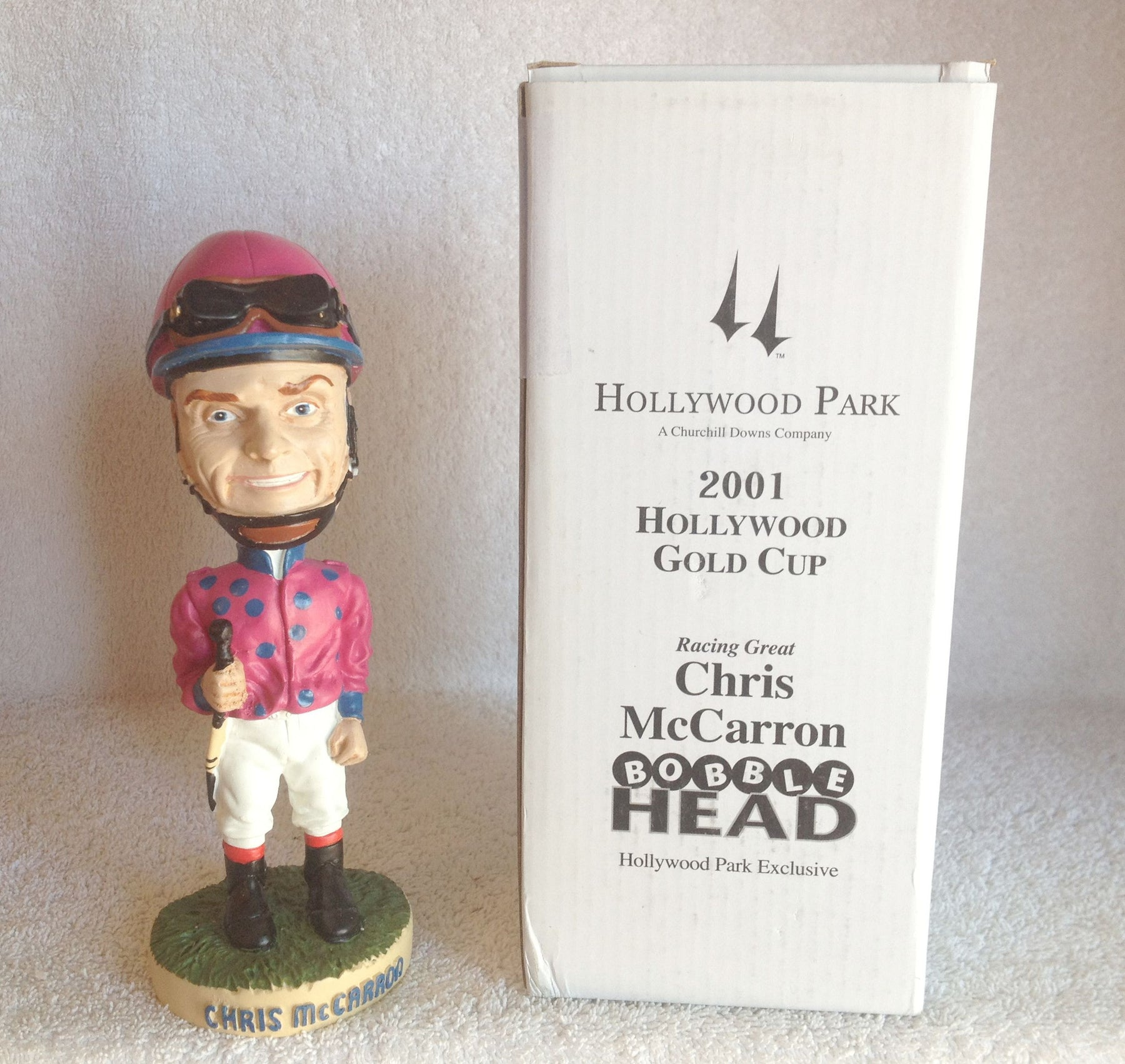 Chris McCarron Bobblehead - BobblesGalore