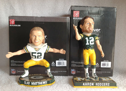 Aaron Rodgers and Clay Matthews Bobblehead Set - BobblesGalore