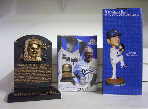 Tommy Lasorda Plaque Clayton Kershaw Bobblehead - BobblesGalore