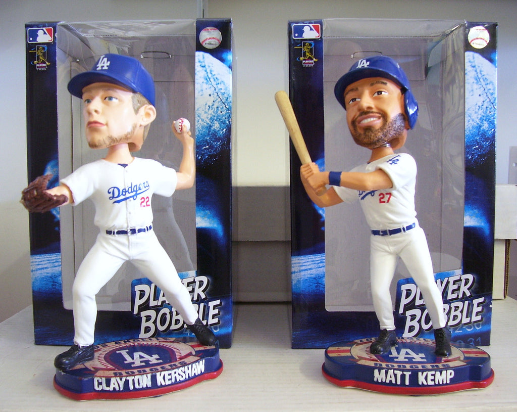 Clayton Kershaw Matt Kemp Bobblehead Set - BobblesGalore