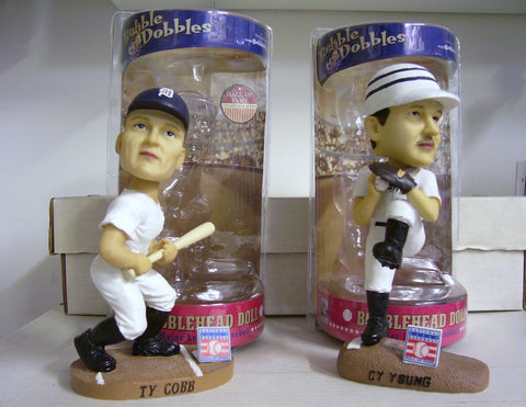 Cy Young and Ty Cobb Bobblehead Set - BobblesGalore