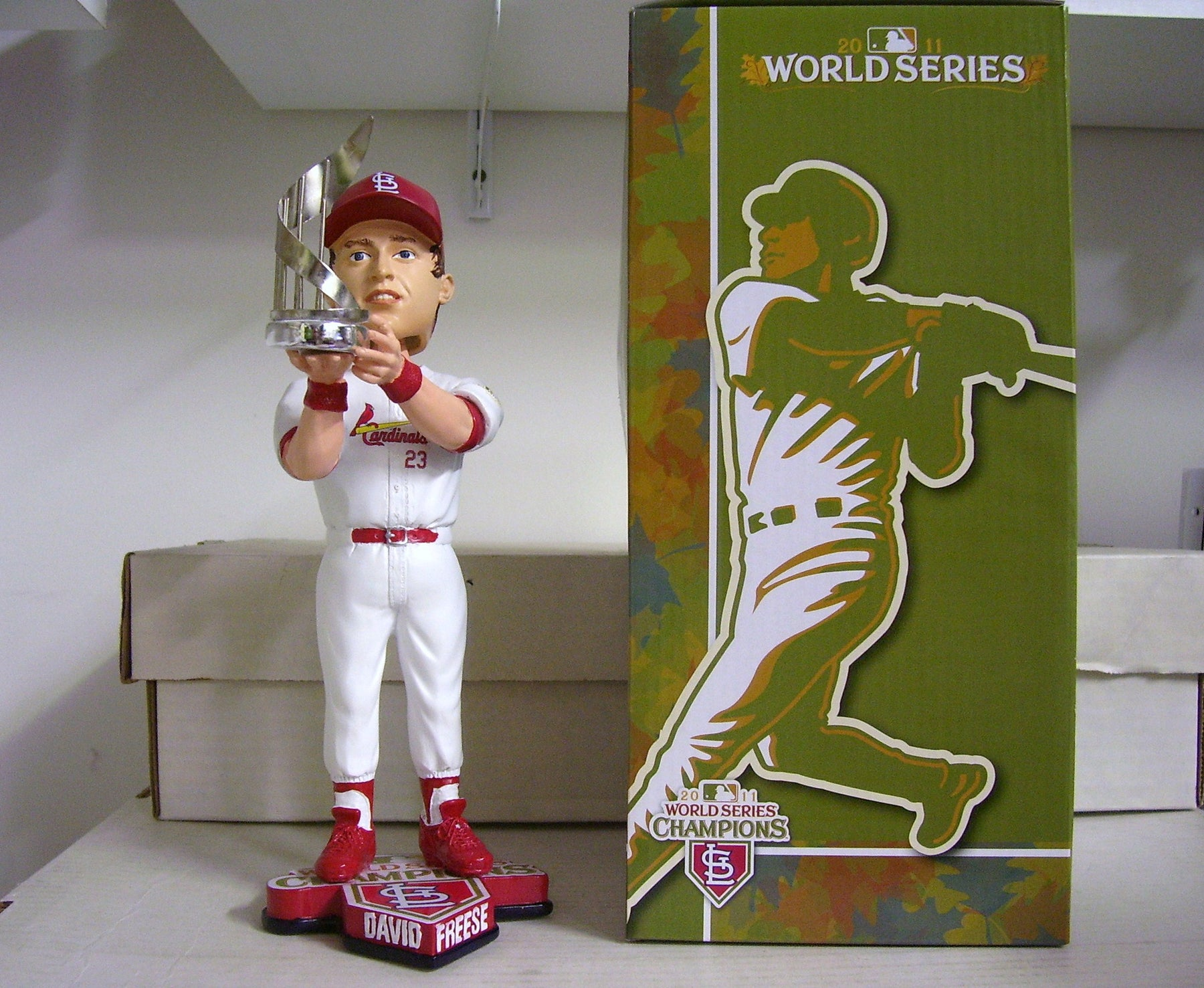David Freese WS MVP Bobblehead - BobblesGalore