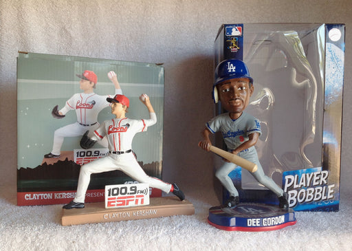 Dee Gordon Bobblehead and Clayton Kershaw Statue - BobblesGalore