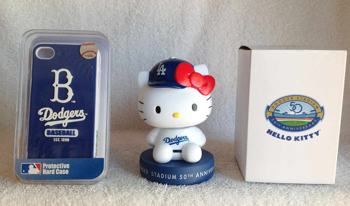 Hello Kitty Bobblehead and Dodgers iPhone case - BobblesGalore