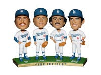 The Infield Dodgers Quad Bobblehead - BobblesGalore