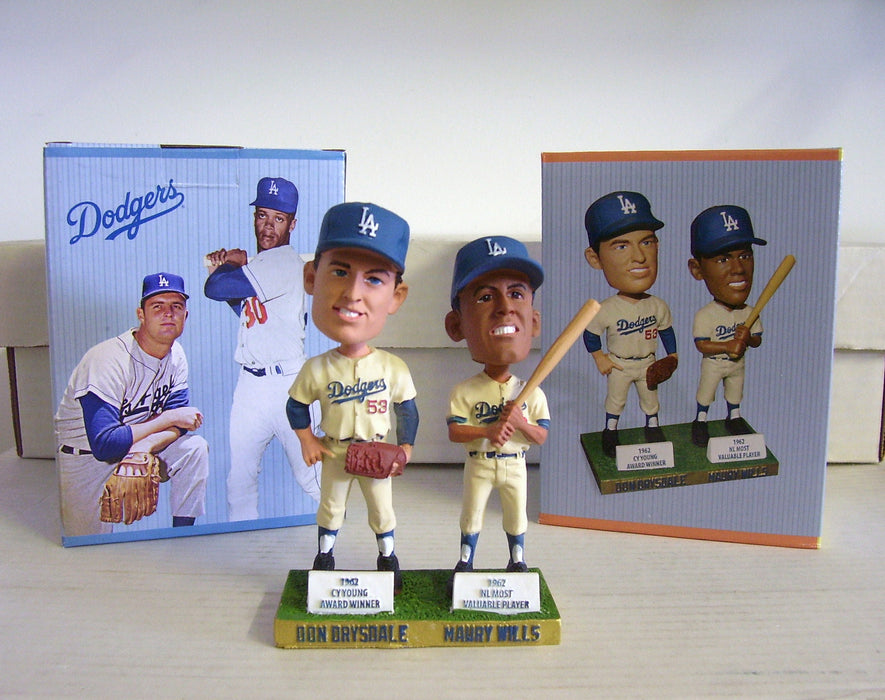 Don Drysdale Maury Wills Bobblehead - BobblesGalore
