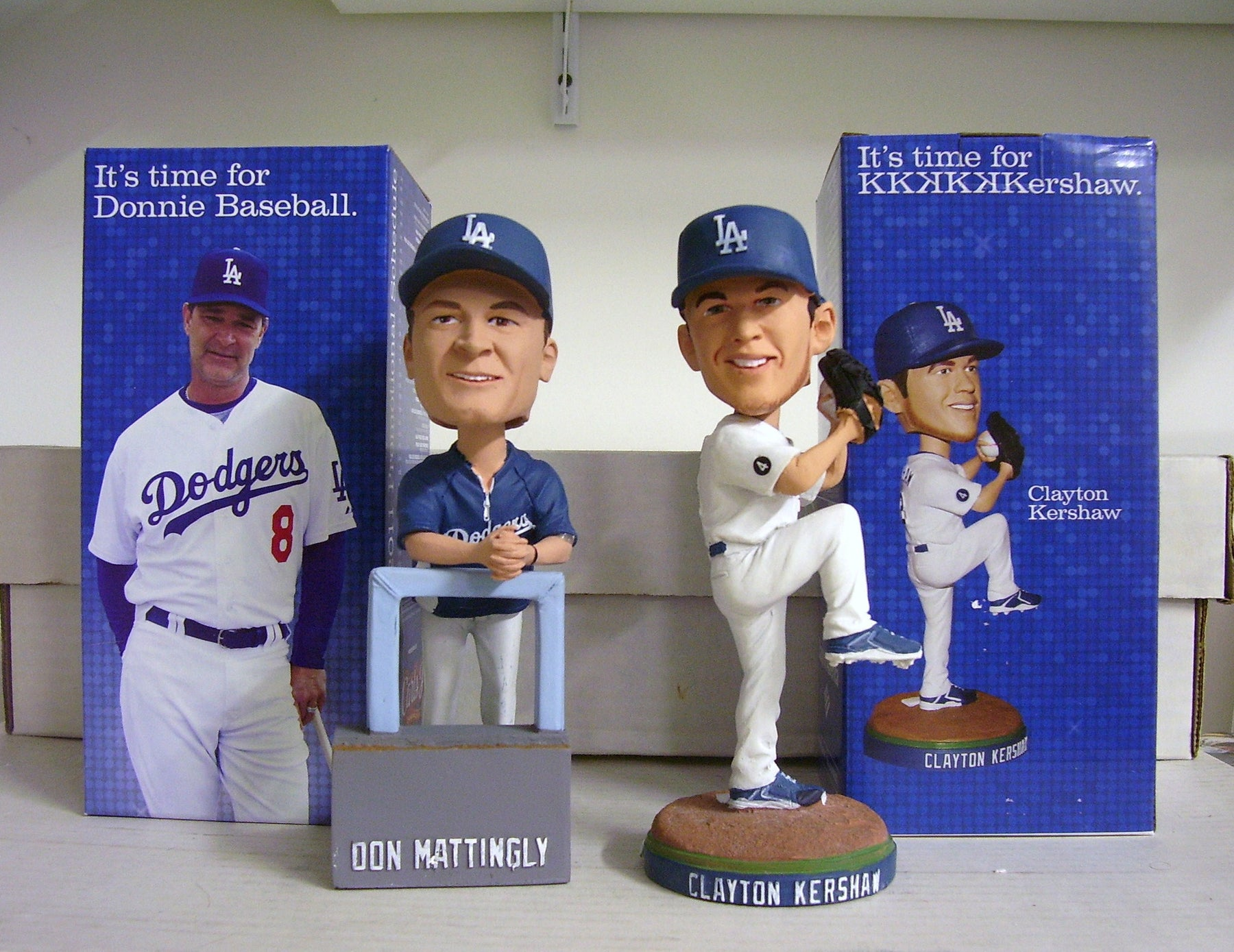 Clayton Kershaw and Don Mattingly Bobblehead Set - BobblesGalore