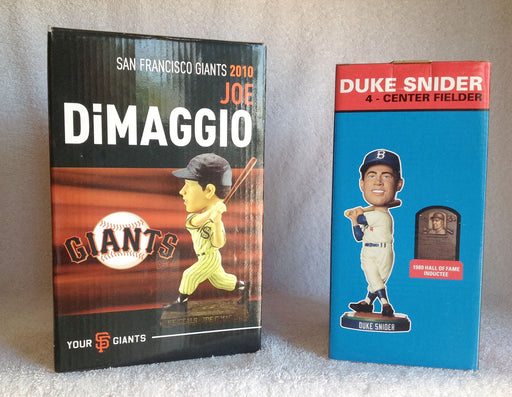 Duke Snider Joe Dimaggio Bobblehead Set - BobblesGalore