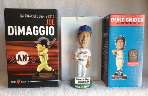 Willie Mays Duke Snider Joe DiMaggio Bobblehead Set - BobblesGalore