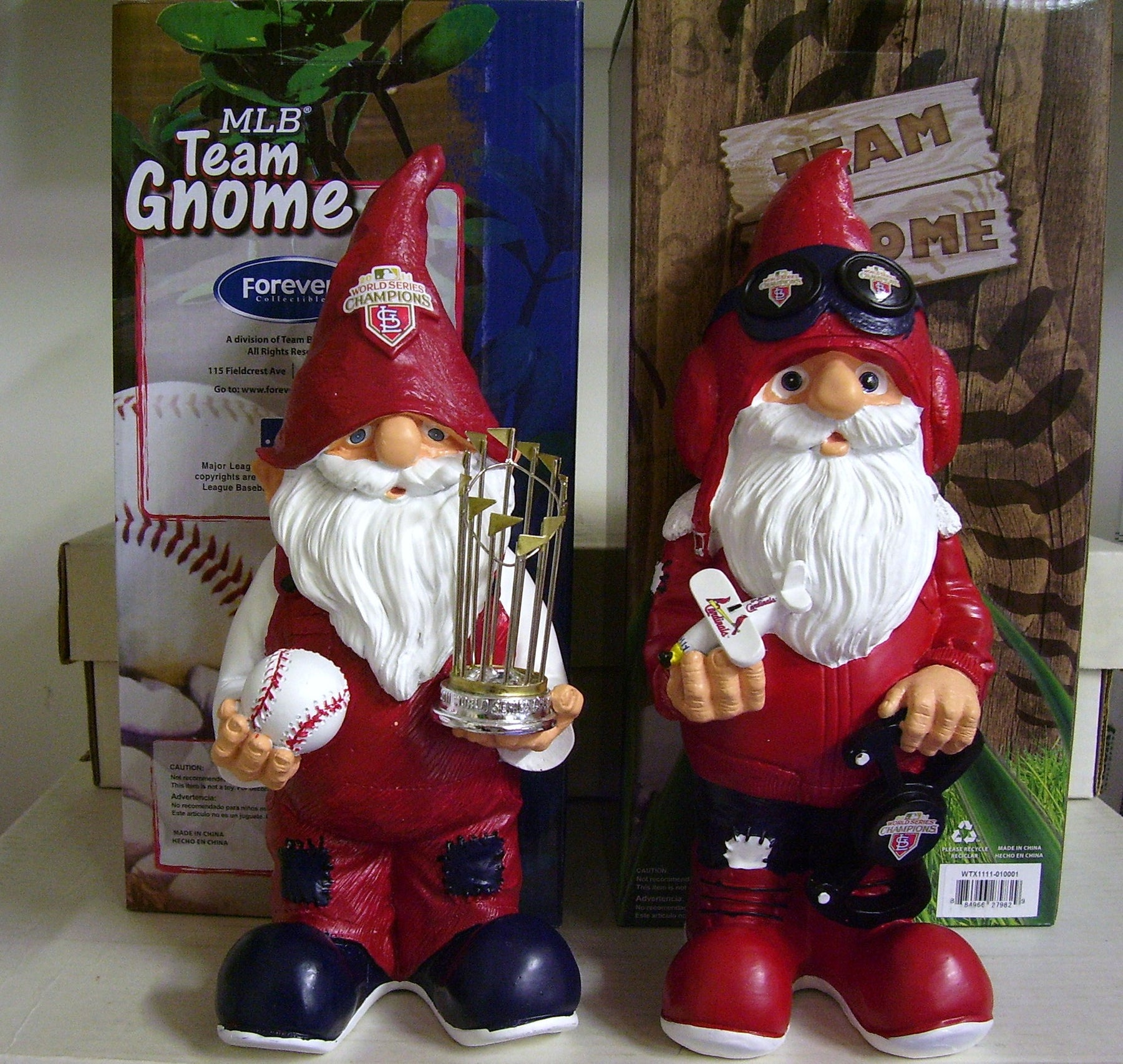 Cardinals World Series Gnome SET - BobblesGalore