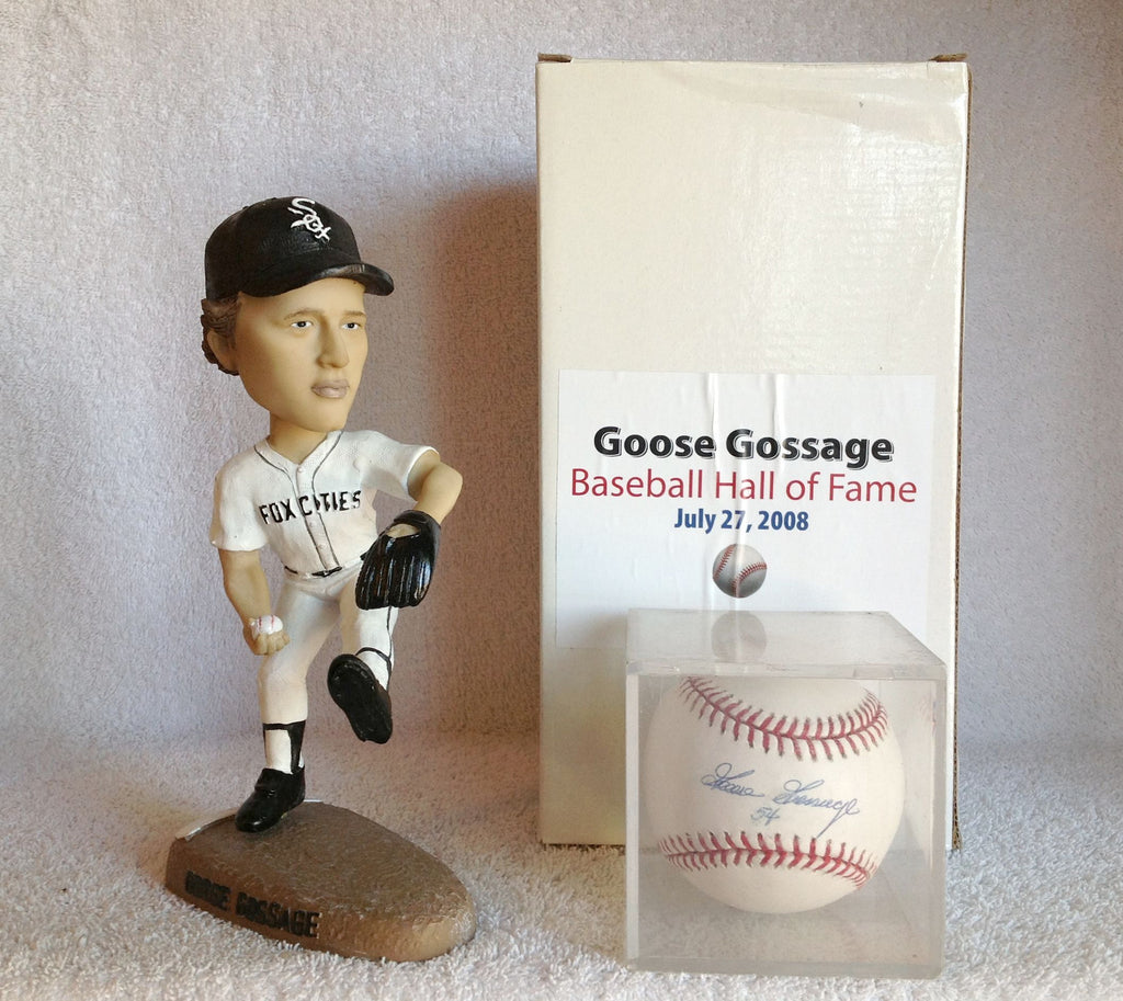 Goose Gossage Bobblehead and Autographed Baseball