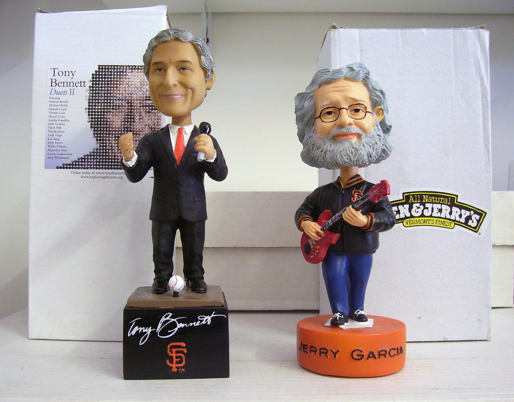 Tony Bennett and Jerry Garcia Bobblehead - BobblesGalore