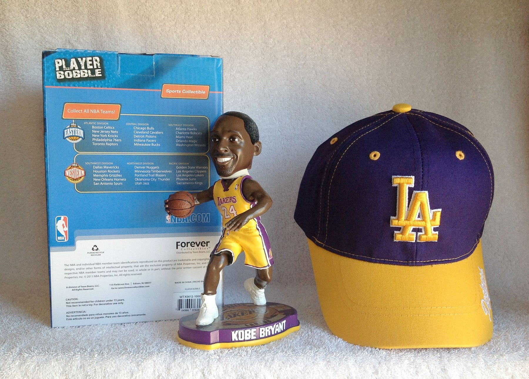 Kobe Bryant Bobblehead and Lakers Hat - BobblesGalore