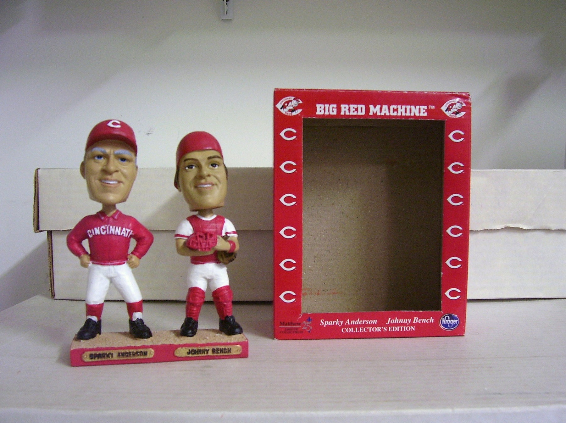 Johnny Bench and Sparky Anderson Bobblehead - BobblesGalore