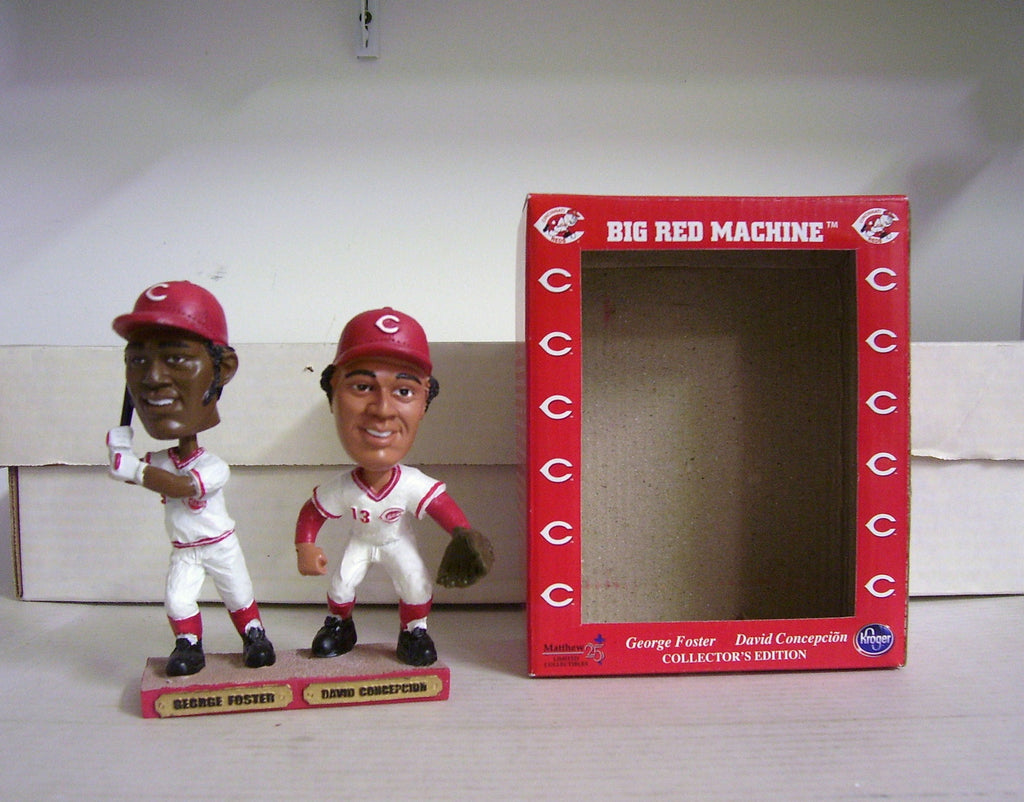 George Foster and Davey Concepcion Dual Bobblehead - BobblesGalore