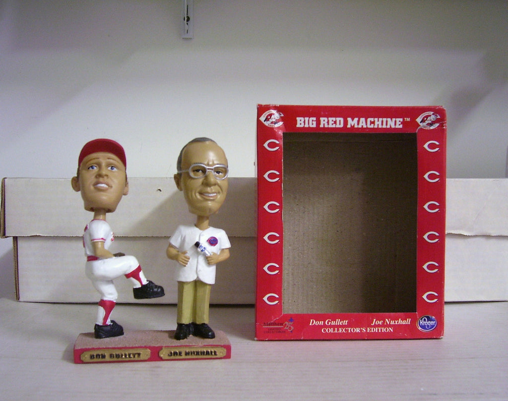 Don Gullett and Joe Nuxhall Dual Bobblehead