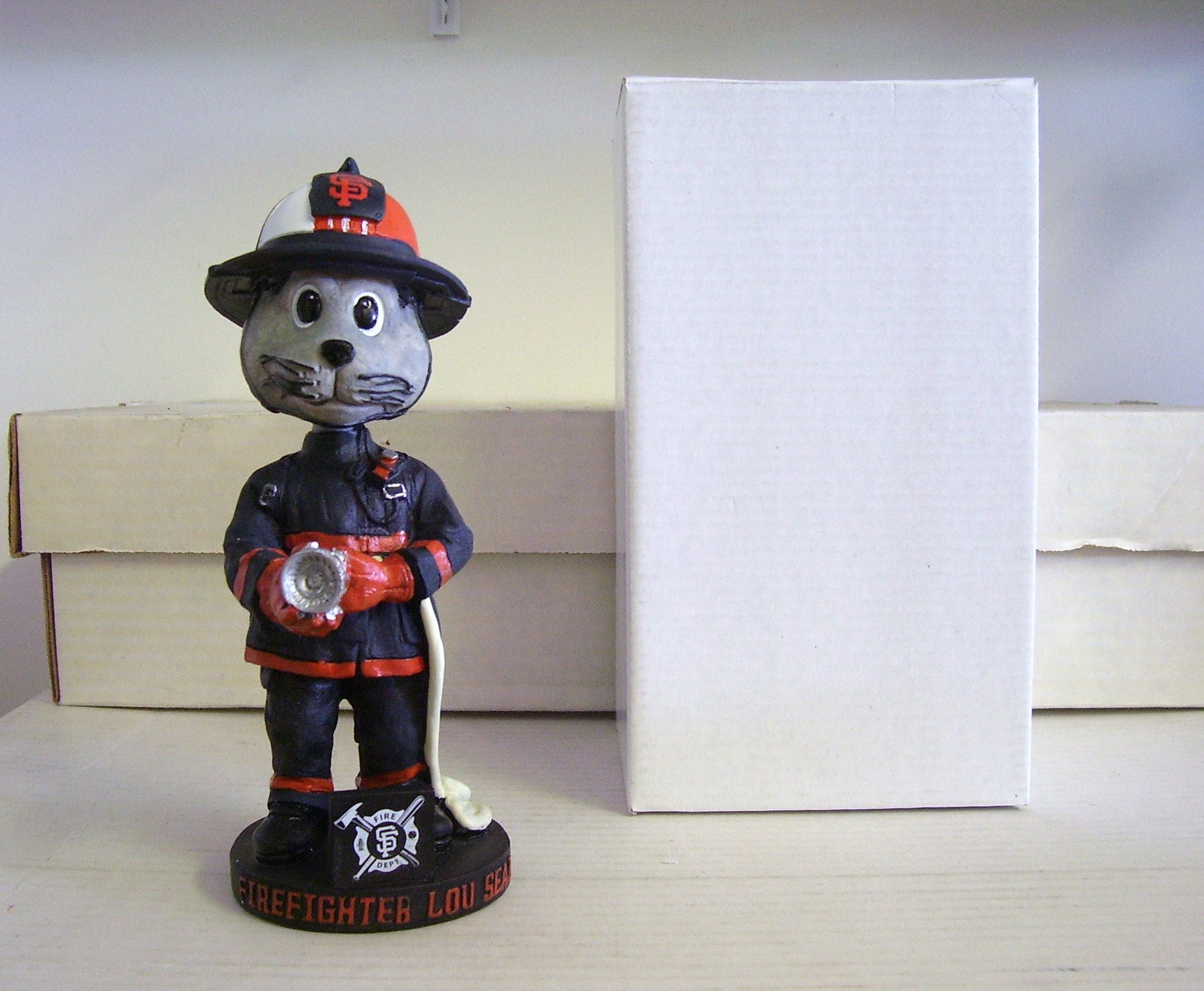 Lou Seal Firefighter Bobblehead - BobblesGalore