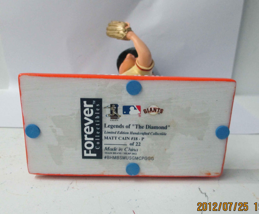 Matt Cain Perfect Game GOLDEN GLOVE Variant Bobblehead - BobblesGalore