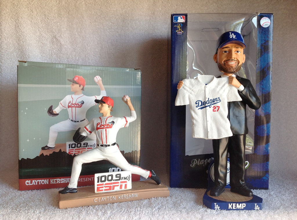 Matt Kemp Bobblehead and Clayton Kershaw Statue - BobblesGalore
