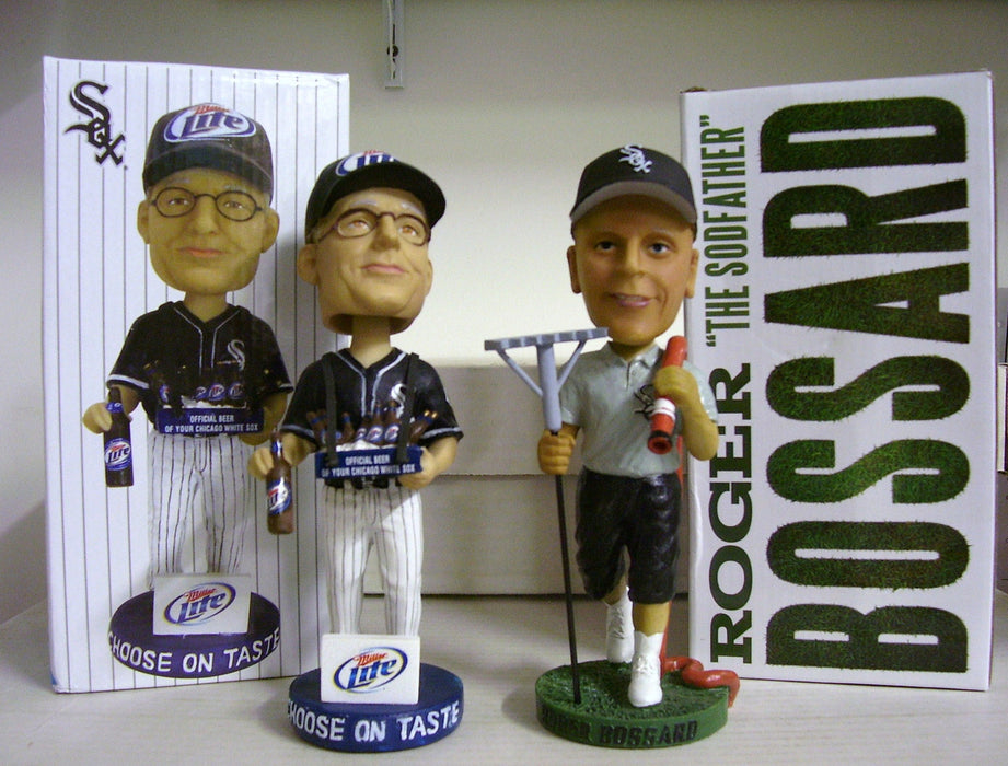 Miller Lite Beer Vendor and Roger Bossard Bobblehead Set - BobblesGalore