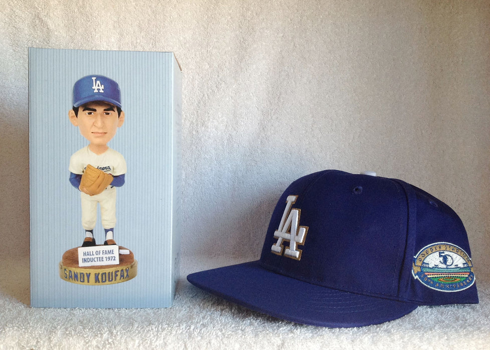 Sandy Koufax Bobblehead and 50th Anniversary Hat - BobblesGalore