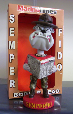 Sgt. BULL DOG Marines SEMPER FI-DO Bobblehead - BobblesGalore