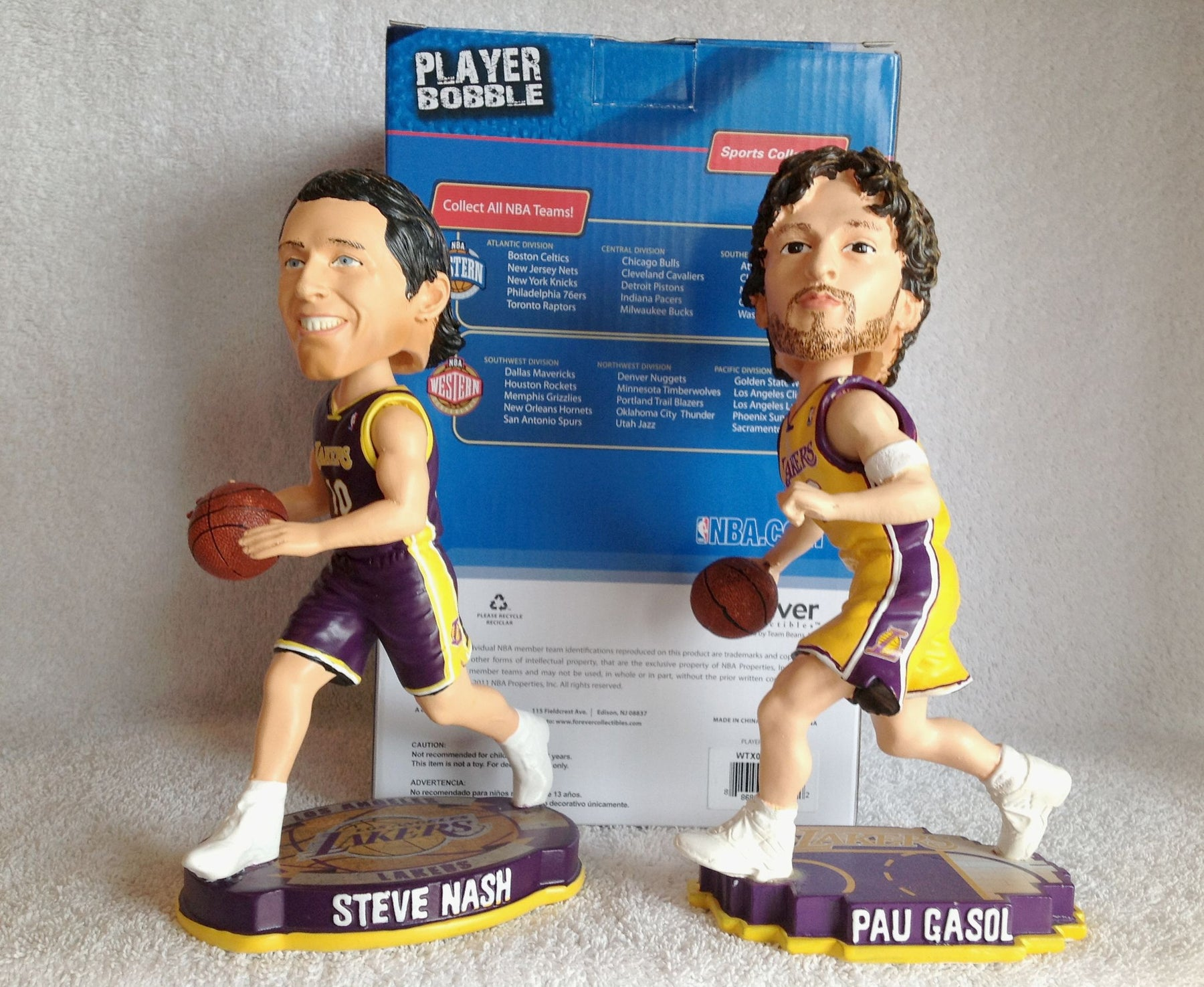 Steve Nash and Pau Gasol Bobblehead Set - BobblesGalore