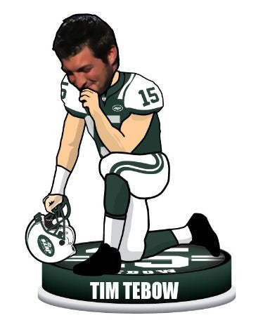 Tim Tebow KNEELING Bobblehead - BobblesGalore