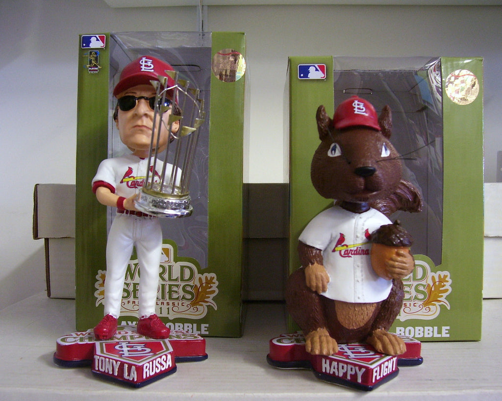 Tony Larussa and Rally Squirrel Bobblehead