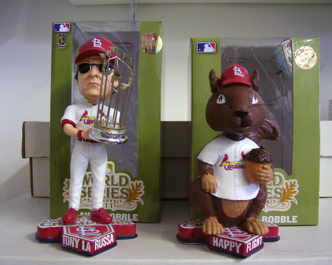 Tony Larussa and Rally Squirrel Bobblehead - BobblesGalore