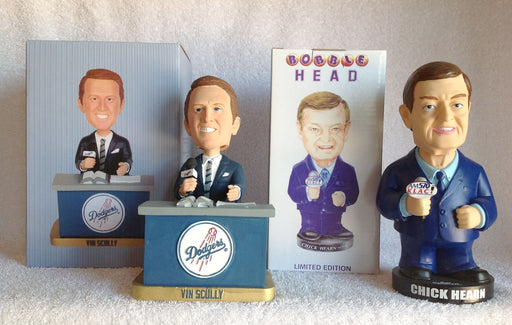 Vin Scully and Chick Hearn Bobblehead Set - BobblesGalore