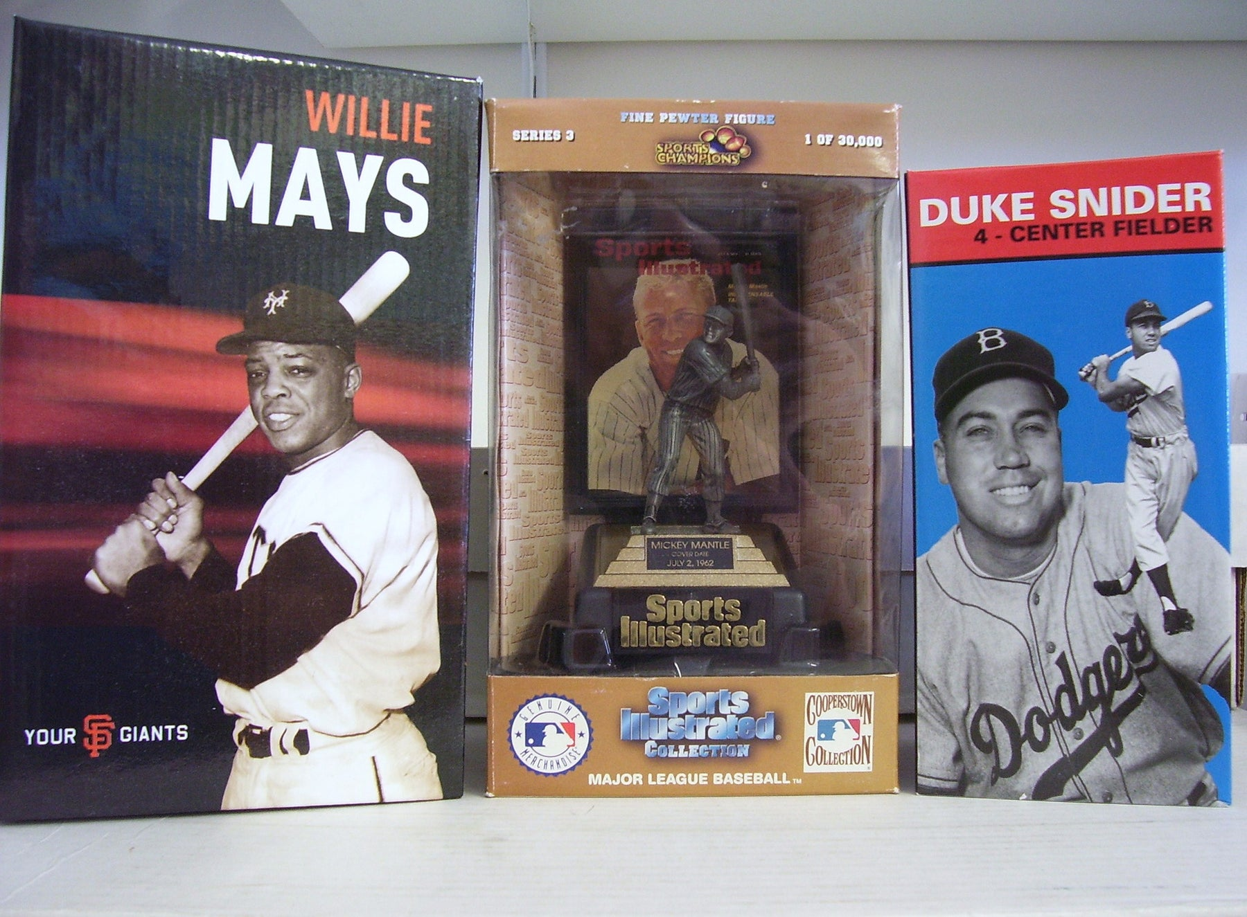 Willie Mays Duke Snider Mickey Mantle - BobblesGalore