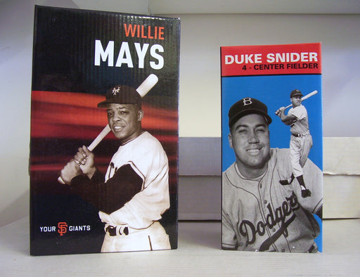 Willie Mays Duke Snider Bobblehead Set - BobblesGalore