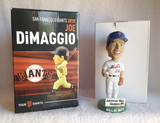 Willie Mays and Joe DiMaggio Bobblehead - BobblesGalore