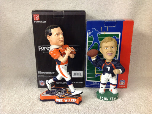 Wes Welker and John Elway Bobblehead Set - BobblesGalore