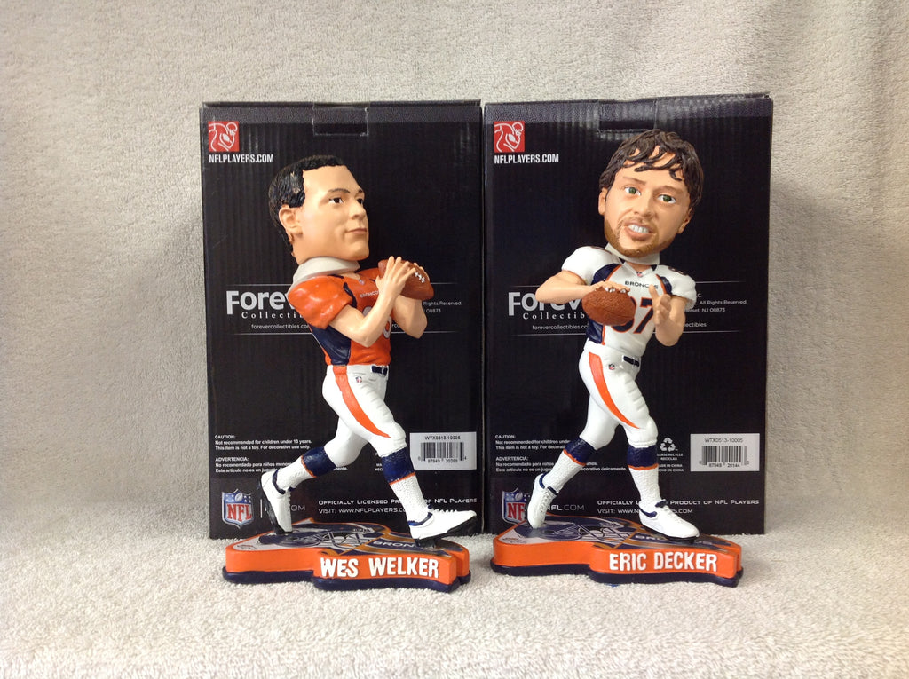 Eric Decker and Wes Welker Bobblehead Set - BobblesGalore