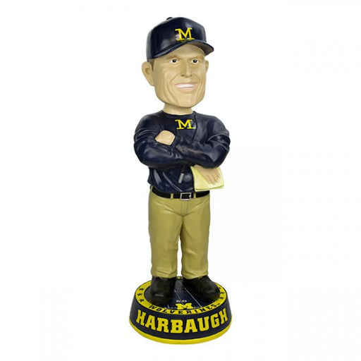 John Harbaugh University of Michigan 3 FOOT Coach Bobblehead - BobblesGalore