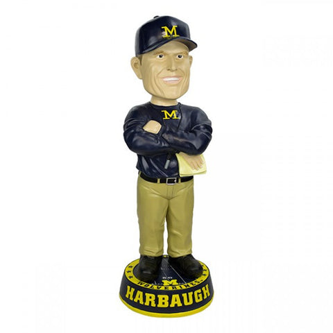 John Harbaugh University of Michigan 3 FOOT Coach Bobblehead