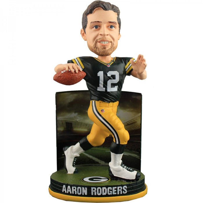 Aaron Rodgers Green Bay Packers FoCo - Stadium (2015) Bobblehead NFL