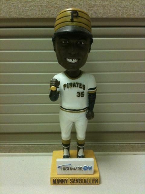 Manny Sanguillen Pittsburgh Pirates Lumber Co. Bbl Bobblehead