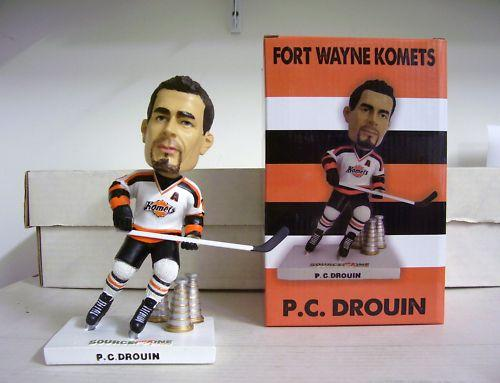 PC Drouin 2011 Fort Wayne Komets Hockey Bobble SGA Fort Wayne Komets Bobblehead
