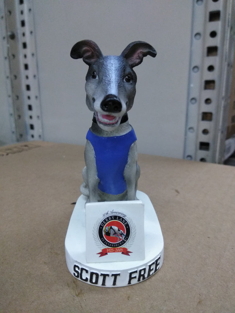Scott Free Derby Lane Dog Bobblehead