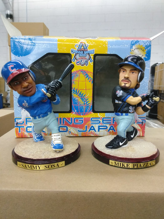 Mike Piazza & Sammy Sosa Mets/ Cubs Statues from the Tokyo Japan US All Stars vs Japan All Stars Game in 2000, Only 2000 made, Heavy Resin/ Ceramic, Non-Bobble Statue Statue MLB