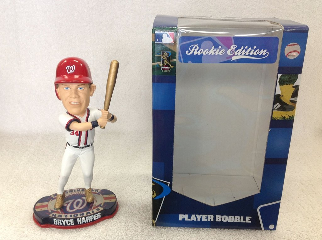 Bryce Harper Nationals Gold Shoes Rookie Bobble Washington Nationals Bobblehead