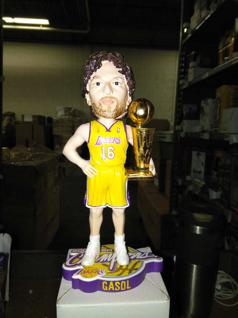 Pau Gasol Los Angeles Lakers NBA Champ 2009 Bobble Los Angeles Lakers Bobblehead